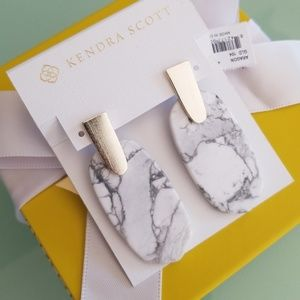 Kendra Scott Howlite Aragon earrings